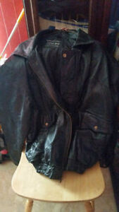 Leather Jacket Size Large $40. OBO  Unisex