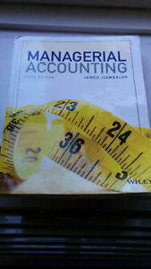 Managerial Accounting 5th Edition Wiley