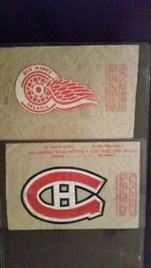 Rare 1962-63 Montreal Canadiens or Red Wings Iron-On