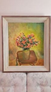 * PAINTING FRAME / RETRO SOLID WOOD PICTURE FRAME & Oil Painting