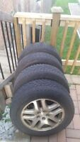Aluminum Rims and Tires 225/60/16 for Subaru Outback