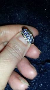 GORGEOUS TANZANITE 14KT YG RING COMES WITH APPRAISAL $1,650