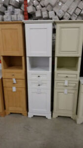 SOLID WOOD LINEN TOWER CABINETS and WALL CABINETS ON SALE !!! Cambridge Kitchener Area image 2