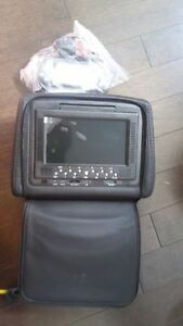 Black Leather Headrest Monitors with DVD/Game