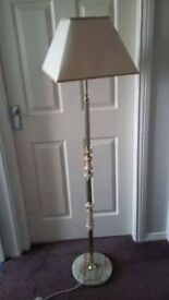 Standing Lamp - Cream Marble and brass (with cream shade)