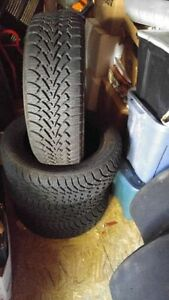 2 months of use!! new Nordiac 205/55/16 Snow tires