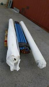 Poly Tarp Roll 10??? x 600??? Woven Polyethylene FR Rated $600/roll