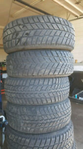 GREAT DEAL !!! 5 TIRES 205 55 16 WINTERS 60-70% LIFE LEFT!!!!