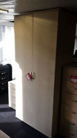 New clearance Ready assembled large quality veneer wardrobe