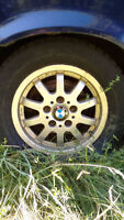BMW Rims with Snow Tires