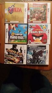 Zelda, mario, donkey kong, angry bird,s driver, ghost recon 3ds