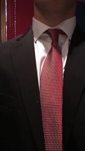 Lost Suit with white Calvin Klein Dress shirt and tie