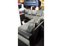 Brand new Diamond 3 section corner sofa & storage footstool