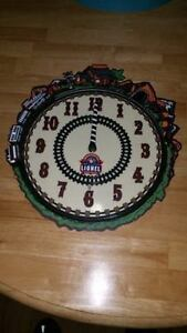 Lionel toy trains 100th anniversary clock- works great!