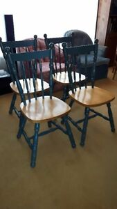 Set of 4 VERY NICE, SOLID WOOD, TIGHT CHAIRS, Made in Canada