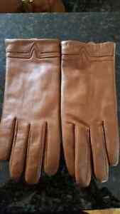 Lambskin gloves in camel,  brand new.