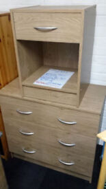 New clearance ready assembled chest & bedside cabinet PRICES IN DESCRIPTION