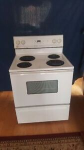 Maytag white coil stove for sale