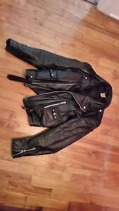 Manteau cuir motocyclette leather jacket