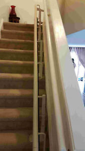 Stairlift chair with track