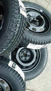 $599 (TAX-IN)- NEW 195/65/R15 snow/winter tires+ Steel rims- Civic/ Corolla/ Prius/ Mazda3/ Golf/ Jetta/ Sentra/ Forte