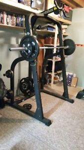 Nautilus Power Rack with Pulley System and Olympic Bar