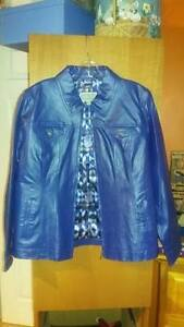 BRAND NEW! Guillaume Blue Genuine Leather Jacket Size L
