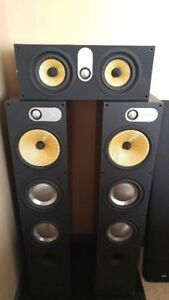 Bowers and Wilkins 683 Loudspeakers (Pair) + HTM62 Cntr Channel