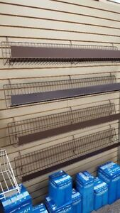 Slatwall wire shelving for retail display
