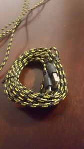 3m / 10ft hemp rope micro USB charger Sync Data Cable Cord