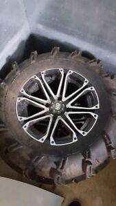 "HD Alloy 14"" ATV wheels and ITP Mudlites"