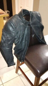 Teknic Leather Motorcycle Jacket, Perforated, Great Condition!