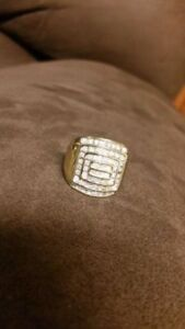 1.50tcw 10k gold. Size 12. mens ring