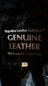 Genuine Leather Jacket;UNISEX  Size Large $40 OBO