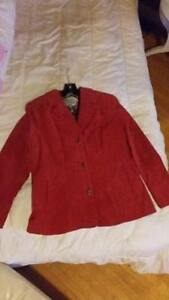 NEW Guillaume Washable Suede Topper Jacket with Printed Lining