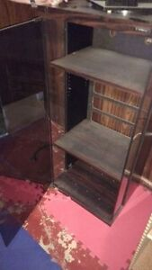 Solid presswood and glass entertainment stand