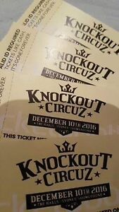 4X Knockout Circuz tickets - $250 each Roselands Canterbury Area Preview