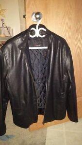 Size 38 Danali Men Leather Jacket With Detachable Vest