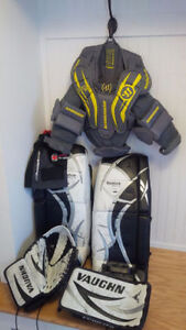 Goalie Gear - Pads - Chest - Glove- Skates