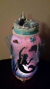GET IT NOW! MERMAID IN A JAR HAND CRAFTED ONE OF A KIND Cambridge Kitchener Area image 1
