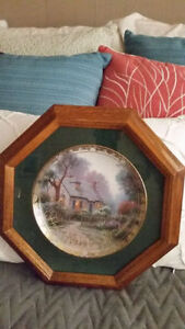 Collector Plate- Thomas Kinkade- Foxglove Cottage