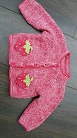 Baby cardigan jumper 100% cotton unisex 3-6 months knitwear high quality Hamble Southampton