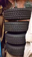 4 - 195/65/15 Snow Tires on 5x114.3 Steel Wheels