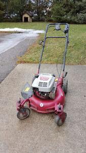 White Pivoting Tires Lawnmower