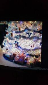 WHITE CHRISTMAS TREE 7 Ft PRE LIT WHITE LIGHTS