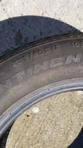 Complete set of four 235-60-18 continental A/S Tires