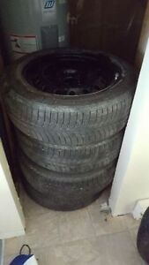 225/60r18 size WINTER tires on rims