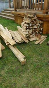 FREE - scrap wood leftover from fence