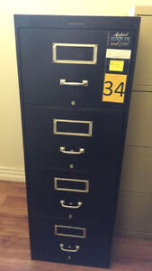 4 Drawer Vertical Filing Cabinets.