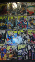 WIZARD magazine comic book and action figure guide;17 copies